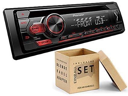 Pioneer DEH-S110UB 1 DIN Autoradio mit CD USB AUX f/ür VW Caddy III 2K 2KN ab 2003 schwarz