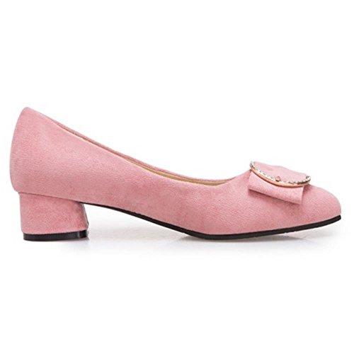 KemeKiss Pumps Women Block Comfort Heel Pink zw0zArq