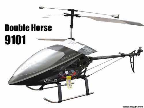 Horse Fly Helicopter (Double Horse 9101 3ch RC Military Helicopter with Gyroscope (Black))