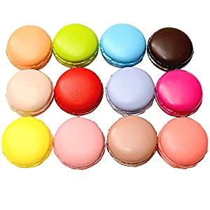 Longpro Realistic Artificial French Macaroons Fake Macaron for Display High Simulation Artificial Dummy Macaroon 12 PCS Studio Photo Prop DIY Decoration Accessories Artificial Dessert Cake Food Toys 35