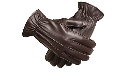 Trendy Fine Edge (Baraca Men's Leather Gloves,Touchscreen Winter Leather Gloves (Medium))