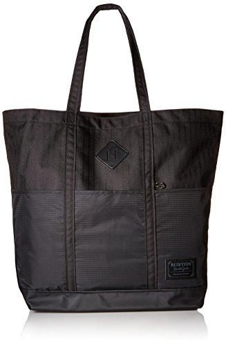 - Burton Crate Large Tote Bag, True Black Heather Twill, One Size