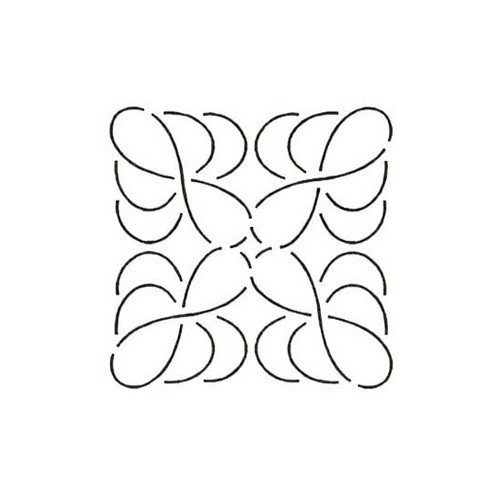 Quilt Stencil Feather Block (Quilting Creations Feather Block Quilt Stencil, 5-1/2
