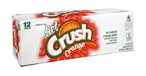 Crush Orange Soda, Diet, 12 oz Can (Pack of 12)