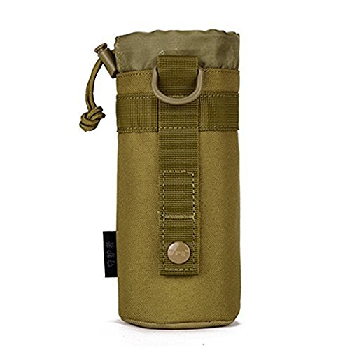 X-Freedom Military Water Bottle Pouch Outdoors Nylon Molle Kettle Bag Holder Hydration Carrier, Dark Brown