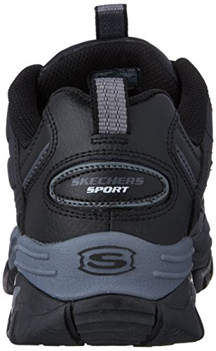 Skechers Men's Energy Afterburn Lace-Up Sneaker,Black/Gray,14 M US by Skechers (Image #2)