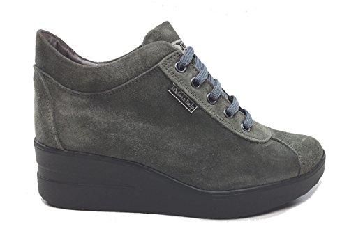 Tomax - Zapatos de cordones de Piel para mujer gris