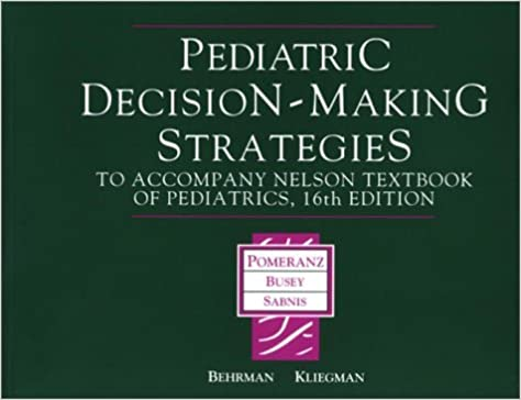 Google Telecharger Le Livre Pediatric Decision Making Strategies To