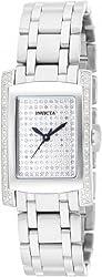 Invicta 15629 Women's Angel Quartz Diamond Pave Dial Stainless Steel Bracelet Watch