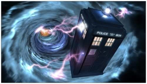 Doctor Who Tardis Vortex Edible Cake Topper Frosting 1//4 Sheet Birthday Party