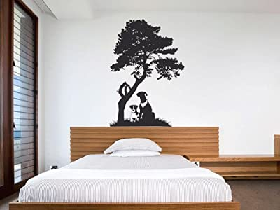 Dogs And Tree Vinyl Wall Art Decal Sticker