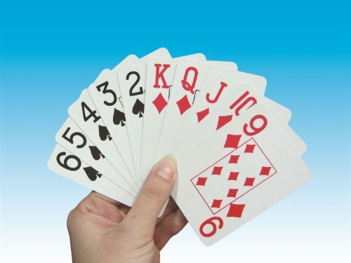 Large Print Playing Cards - Red Backs by Mobility Choices - Card Mobility