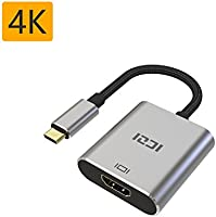 USB-C to HDMI Adapter, ICZI 4K Type C to HDMI Adapter, Thinderbolt 3 to HDMI, for Huawei Mate 10, MacBook Chromebook Pixel, Dell XPS 13 and More