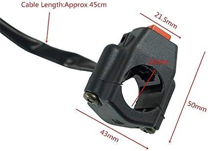 CBFYKU 7//8Bouton Interrupteur de d/émarrage dallumage de Moto avec connecteur carr/é canule pour Yamaha Honda Moto ATV Dit v/élo color/é : Rouge