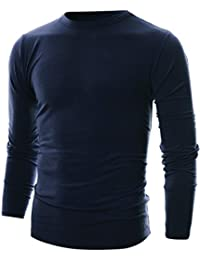 Mens Slim Fit Soft Cotton Long Sleeve Lightweight Thermal Crew Neck T-Shirt