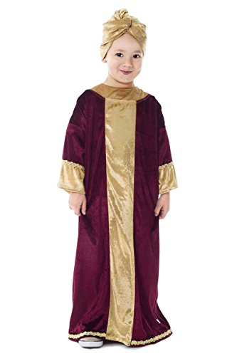 Little Adventures Nativity Biblical Characters Childrens Costume (Burgundy