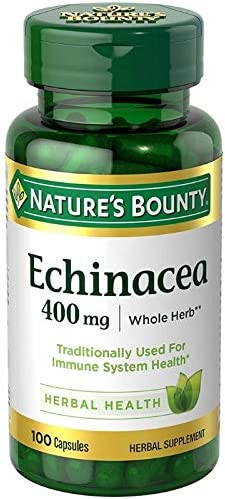 Nature's Bounty Echinacea 400 mg Capsules 100 ea Pack of 3