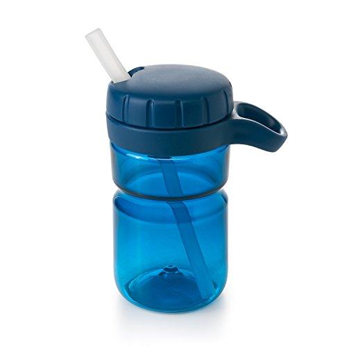OXO TOT Twist Lid Water Bottle for Big Kids, Navy, 12 Ounce