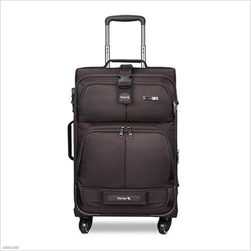 YX SHOP® 超軽量トラベルトラベルスーツケーススーツケース4本スーツケース-18インチ-3600回転ホイール-3桁コンビネーションロック (色 : Brown) B07JMG9D7P  Brown