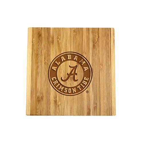 Alabama Bamboo Cheeseboard & Knife - Tide Crimson Alabama Natural