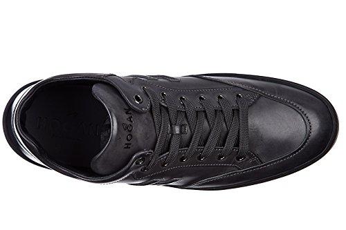 Hogan zapatos zapatillas de deporte hombres en piel nuevo h302 mid cut gris