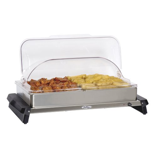 BroilKing NBS-2RT Professional Double Buffet Server with Rolltop Lids