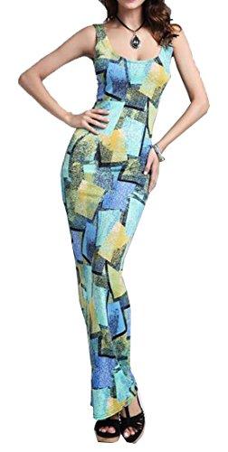 xiaokong Women's Elegant Sexy Slim Fit Tunic Mid Length Dress