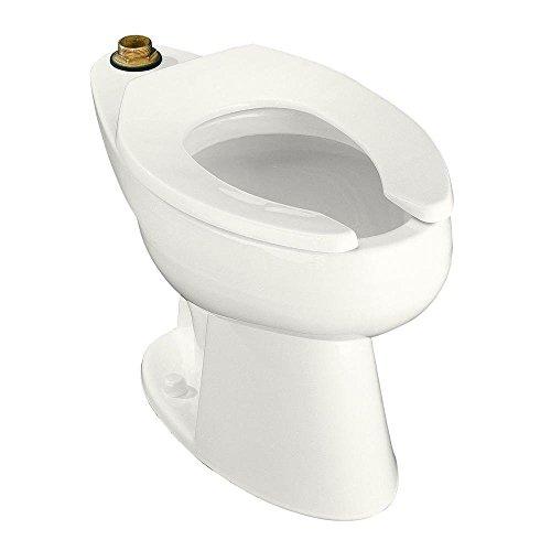KOHLER K-4368-L-0 Highcliff Elongated Toilet Bowl, White