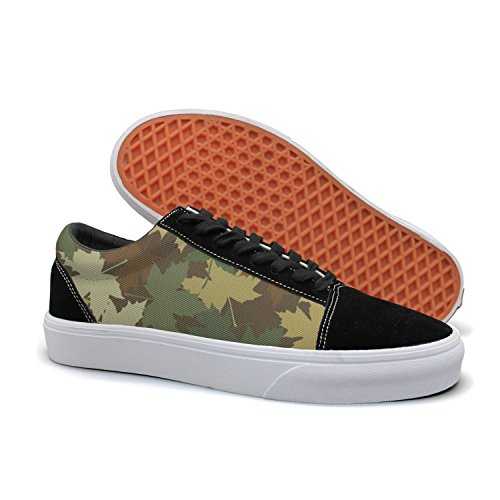 HMAG Women Skate Shoes Jogging Shoes Army Maple Leaf Lightweight Sneaker For Casual Outfits]()