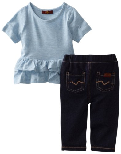 7 For All Mankind Baby Girls' Tunic Denim Set