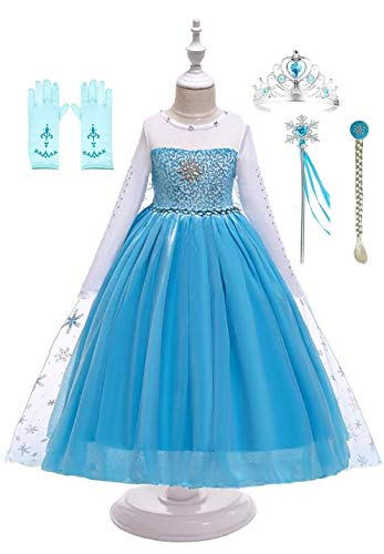 FairyTale Princess Boutique Ice Queen Elsa Blue Snowflake