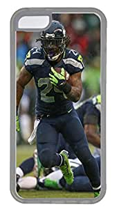 iPhone 5C Case,Logo Series Customize Ultra Slim Seahawks 24 Hard Plastic PC Clear Case Bumper Cover for iPhone 5C