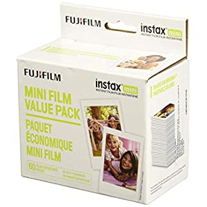 Fujifilm Instax Mini Instant Film Value Pack – (60 Total Pictures)(Package may vary)
