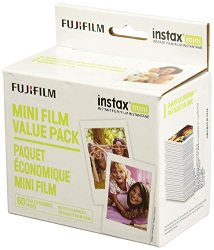Fujifilm Instax Mini Instant Film Value Pack - (60 Total Pictures)(Package may -