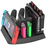 Skywin Charging Display Stand for Nintendo Switch - Nintendo Switch Charging Dock and game holder for Switch Console, Joy-Con
