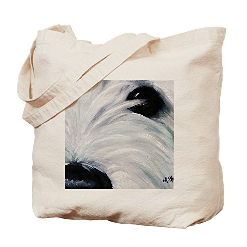 CafePress Eye See You Natural Canvas Tote Bag, Cloth Shopping Bag