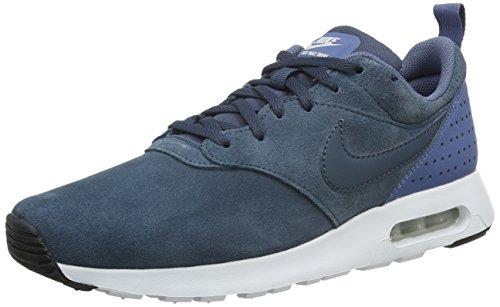 Nike Mens Air Max Tavas Leather Suede Mens Air Cushioned Sport Shoes Squadron Blue Fog White 403