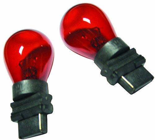 IPCW CWB-3156R Red Waffle Mount 3156 Bulb Pair