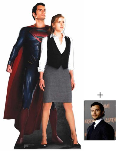 Fan Pack - Superman (Henry Cavill) and Lois Lane (Amy Adams) from Man Of Steel Lifesize Cardboard Cutout / Standee - Includes 8x10 (25x20cm) Star Photo