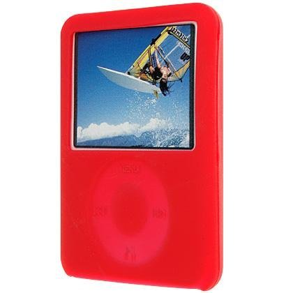 Red Silicone Case/Skin/Protector/Cover for Apple 3rd Generation iPod Nano Video/Graphic, both Nano 4GB and Nano 8GB.