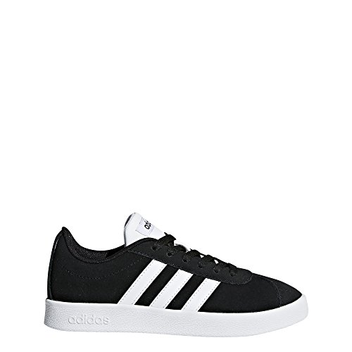 Image of adidas Kids' VL Court 2.0, Core Black/White/Core Black, 4 M US Little Kid