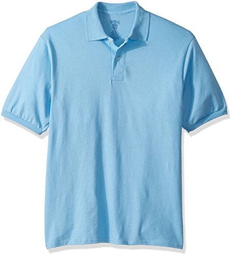 (Jerzees Men's Spot Shield Short Sleeve Polo Sport Shirt, Light Blue, 2X-Large )