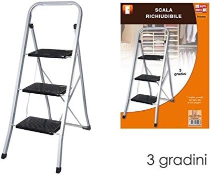 Brico Escalera Plegable con Tres peldaños.: Amazon.es: Hogar