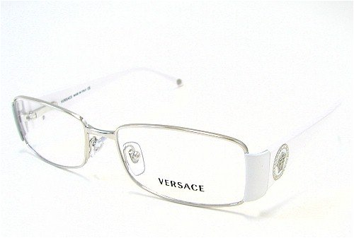 c824b83d1a26 Image Unavailable. Image not available for. Colour  Versace 1125-B  Eyeglasses 1125B White 1000 Optical Frames