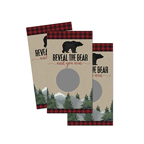 Lumberjack Scratch Off Party Game Cards - 30 Pack