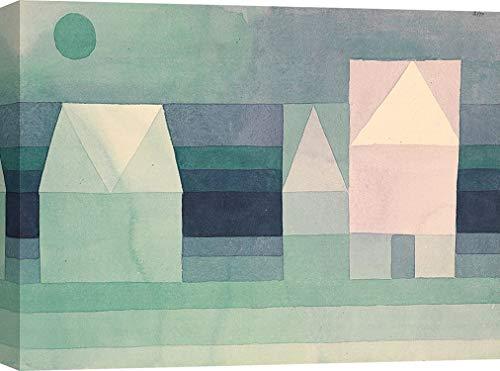 Art Print Cafe – Cuadros Famosos en Canvas - Paul Klee, Three Houses – Impresion sobre Lienzo 120x90 cm