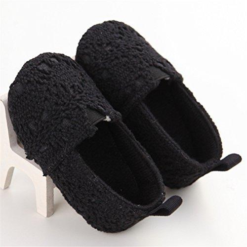 Estamico Baby Girl Net Yarn Floral Slip On Shoes Moccasins Black Us 5