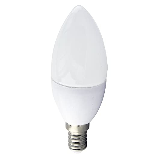 LightED Flama R Bombilla LED 50K E14, 7 W, Blanco 37 x 99 mm