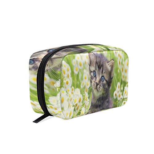(Cosmetic Bag Greater Lafayette Cat Customized Makeup Bags Square Organizer Portable Pouch Pencil Storage Case for Women)