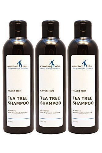 Colloidal Silver-MSM Tea Tree Shampoo 3 x 200 ml